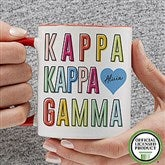 Kappa Kappa Gamma Personalized Coffee Mug 11 oz.- Red - 19867-R