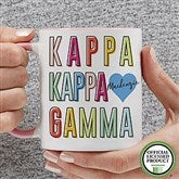 Kappa Kappa Gamma Personalized Coffee Mug 11 oz.- Pink - 19867-P