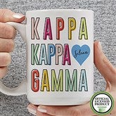 Kappa Kappa Gamma Personalized Coffee Mug 15 oz.- White - 19867-L