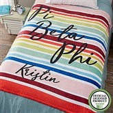 Pi Beta Phi Personalized 60x80 Fleece Blanket - 19870-L