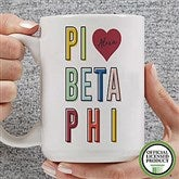Pi Beta Phi Personalized Coffee Mug 15 oz.- White - 19871-L