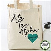 Zeta Tau Alpha Personalized Petite Tote Bag - 19872