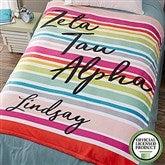 Zeta Tau Alpha Personalized 60x80 Fleece Blanket - 19874-L