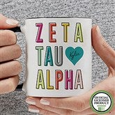 Zeta Tau Alpha Personalized Coffee Mug 11 oz.- Black - 19875-B