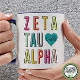 Zeta Tau Alpha Personalized Coffee Mug 11 oz.- Blue - 19875-BL