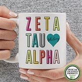 Zeta Tau Alpha Personalized Coffee Mug 11 oz.- White - 19875-S
