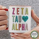 Zeta Tau Alpha Personalized Coffee Mug 11 oz.- Red - 19875-R