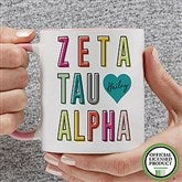 Zeta Tau Alpha Personalized Coffee Mug 11 oz.- Pink - 19875-P