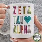 Zeta Tau Alpha Personalized Coffee Mug 15 oz.- White - 19875-L