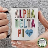 Alpha Delta Pi Personalized Coffee Mug 11 oz.- Black - 19876-B