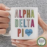 Alpha Delta Pi Personalized Coffee Mug 11 oz.- White - 19876-S