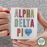 Alpha Delta Pi Personalized Coffee Mug 11 oz.- Red - 19876-R