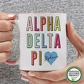 Alpha Delta Pi Personalized Coffee Mug 11 oz.- Pink - 19876-P