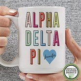 Alpha Delta Pi Personalized Coffee Mug 15 oz.- White - 19876-L