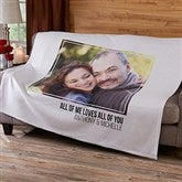Romantic 1 Photo Personalized Sweatshirt Blanket - 19892-1