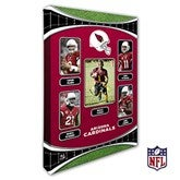 Arizona Cardinals Personalized NFL Trading Card Style Canvas Print - 12