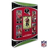 Atlanta Falcons Personalized NFL Trading Card Style Canvas Print - 12
