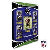 Baltimore Ravens Personalized NFL Trading Card Style Canvas Print - 12