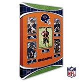 Chicago Bears Personalized NFL Trading Card Style Canvas Print - 12
