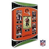 Cincinnati Bengals Personalized NFL Trading Card Style Canvas Print - 12