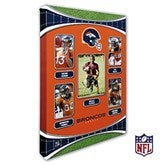 Denver Broncos Personalized NFL Trading Card Style Canvas Print - 12