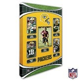 Green Bay Packers Personalized NFL Trading Card Style Canvas Print - 12