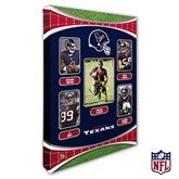 Houston Texans Personalized NFL Trading Card Style Canvas Print - 12