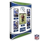 Indianapolis Colts Personalized NFL Trading Card Style Canvas Print - 12