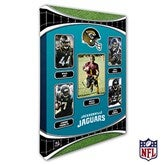 Jacksonville Jaguars Personalized NFL Trading Card Style Canvas Print - 12
