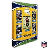 Los Angeles Chargers Personalized NFL Trading Card Style Canvas Print - 12