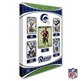 Los Angeles Rams Personalized NFL Trading Card Style Canvas Print - 12