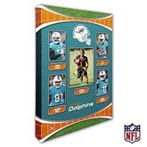 Miami Dolphins Personalized NFL Trading Card Style Canvas Print - 12