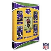 Minnesota Vikings Personalized NFL Trading Card Style Canvas Print - 24