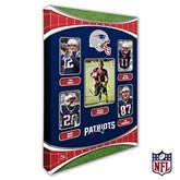 New England Patriots Personalized NFL Trading Card Style Canvas Print - 12