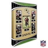New Orleans Saints Personalized NFL Trading Card Style Canvas Print - 12