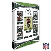 New York Jets Personalized NFL Trading Card Style Canvas Print - 12