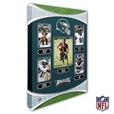 Philadelphia Eagles Personalized NFL Trading Card Style Canvas Print - 12
