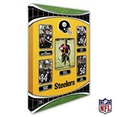 Pittsburgh Steelers Personalized NFL Trading Card Style Canvas Print - 12