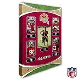 San Francisco 49ers Personalized NFL Trading Card Style Canvas Print - 16