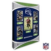 Seattle Seahawks Personalized NFL Trading Card Photo Canvas Print - 12