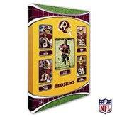 Washington Redskins Personalized NFL Trading Card Style Canvas Print - 12