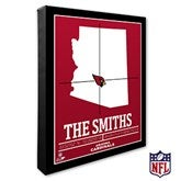 Arizona Cardinals Personalized NFL Stadium Coordinates Canvas Print - 19981-16x20