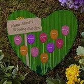 Grandma's Garden Personalized Heart Garden Stone - 19992