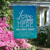 Love Grows Here Personalized Garden Flag - 19995