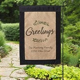 Cozy Home Personalized Burlap Garden Flag - 20000