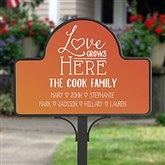 Love Grows Here Personalized Magnetic Garden Sign - 20004