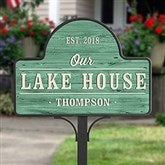 Home Away From Home Personalized Magnetic Garden Sign - 20006