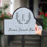 Farmhouse Floral Personalized Magnetic Garden Sign - 20007
