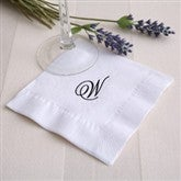 Initially Yours White Personalized Cocktail Napkins - 2000D-W