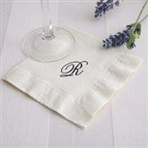 Initially Yours Off-White Personalized Cocktail Napkins - 2000D-OW